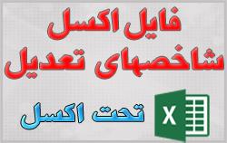 فایل اکسل شاخص تعدیل از سال 82 تا مهر 97